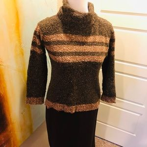 Angora Sweaters brown tan loose turtle neck LP